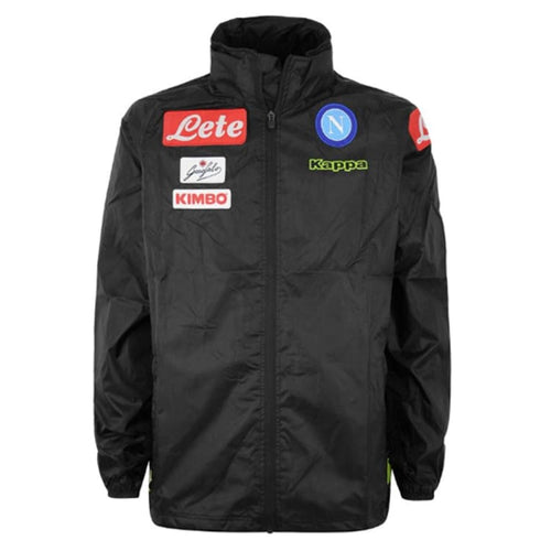 Jackets / Windbreaker: Kappa Napoli 18/19 Wind Rain Jacket 303HD0 - S / Black / Kappa / Black Clothing Football Jackets Jackets /