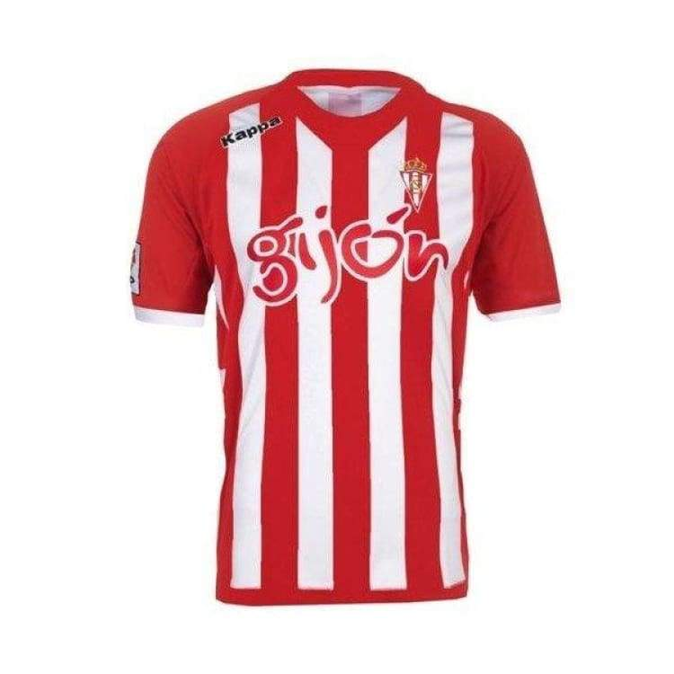 Jerseys / Soccer: Kappa Real Sporting Gijon 12/13 (H) S/s Kf-302Qzs0-901 - Kappa / L / Red / Clothing Football Jerseys Jerseys / Soccer