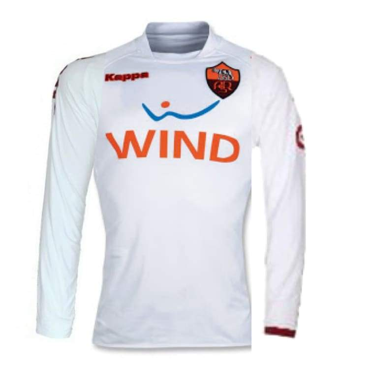 Jerseys / Soccer: Kapppa Roma 08/09 (A) L/s - Kappa / L / White / 0809 As Roma Away Kit Clothing Football | Ochk-Sfalo-Lsita11080A-1