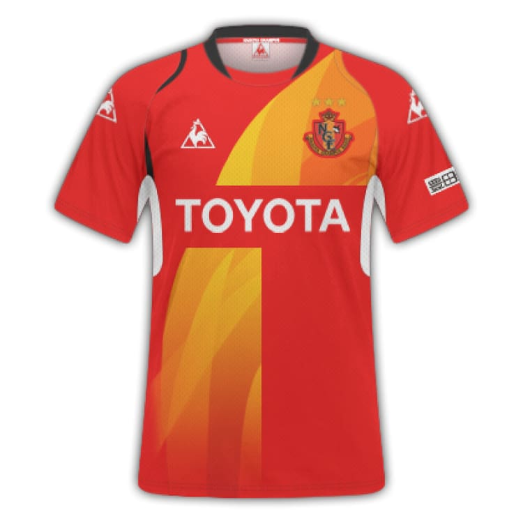 Jerseys / Soccer: Le Coq Sportif Nagoya Grampus 13/14 (H) S/s Qh-74213Gr - Le Coq Sportif / S / Red / 1314 Clothing Football Home Kit