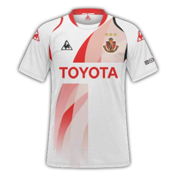 Jerseys / Soccer: Le Coq Sportif Nagoya Grampus 14/15 (A) S/s Qh09014Gr-Mmy - Le Coq Sportif / S / White / 1415 Away Kit Clothing Football