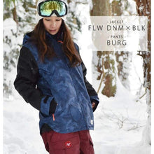 Jackets / Snow: Lilica Rose 2017 Ladies Ski And Snowboard Jacket [Nvy X Flw]+Pants Set [Beige] [Vt-02] - Vt-01 / S / Lilica Rose / 1617