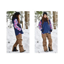 Jackets / Snow: Lilica Rose 2017 Ladies Ski And Snowboard Jacket [Nvy X Flw]+Pants Set [Beige] [Vt-02] - 1617 Clothing Fl-05 Fun Factory