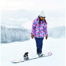 Jackets / Snow: Lilica Rose 2017 Ladies Ski And Snowboard Jacket [Nvy X Flw]+Pants Set [Beige] [Vt-02] - Fl-05 / S / Lilica Rose / 1617