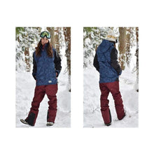 Jackets / Snow: Lilica Rose 2017 Ladies Ski And Snowboard Jacket [Nvy X Wht]+Pants Set [Burg] [Sj-02] - Vt-01 / M / Lilica Rose / 1617
