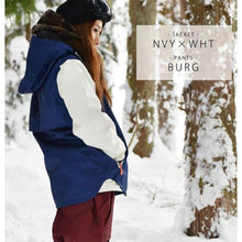 Jackets / Snow: Lilica Rose 2017 Ladies Ski And Snowboard Jacket [Nvy X Wht]+Pants Set [Burg] [Vt-01] - Sj-02 / S / Lilica Rose / 1617