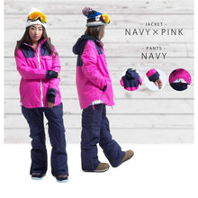 Jackets / Snow: Lilica Rose Ski And Snowboard Jacket [Nav X Yel]+Pants Set [Flower] [Mg-04] - Mg-01 / S / Lilica Rose / 1617 Clothing Fun