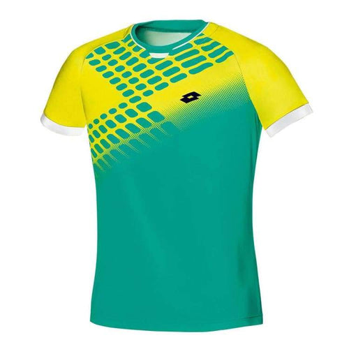 Polos / Short Sleeve: Lotto CONNOR NET POLO-GRN PAR/FL YLW - Lotto / S / Green/ Yellow / Clothing,Land,Lotto,Lotto HK,lotto_20200402 |