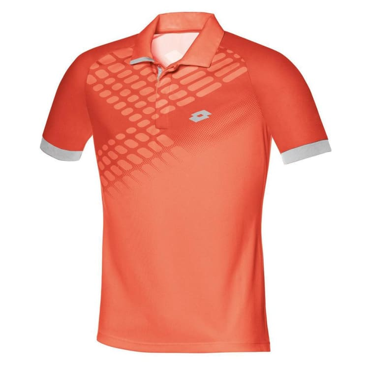Polos / Short Sleeve: Lotto CONNOR NET POLO-ORA NEO/RED WAR - Lotto / M / Orange / Clothing,Land,Lotto,Lotto HK,lotto_20200402 |
