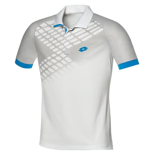 Polos / Short Sleeve: Lotto CONNOR NET POLO-WHITE/MALDIVE - Lotto / S / White / Clothing,Land,Lotto,Lotto HK,lotto_20200402 |