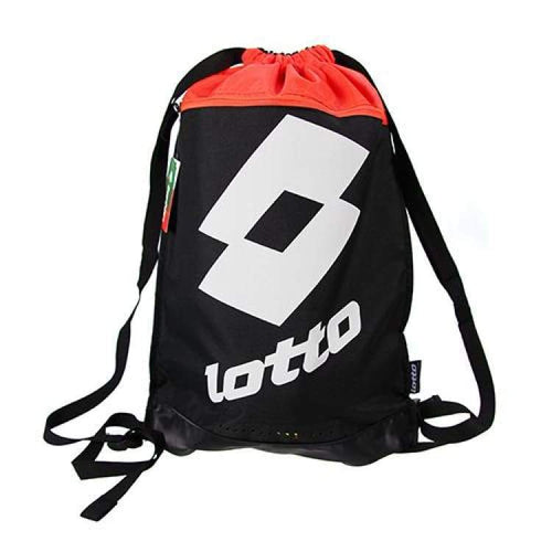 Bags / Sack Pack: Lotto Drawstring Bag - Bright Crimson / Black - Lotto / Bright Crimson/black / Accessories Bags / Sack Pack Bright