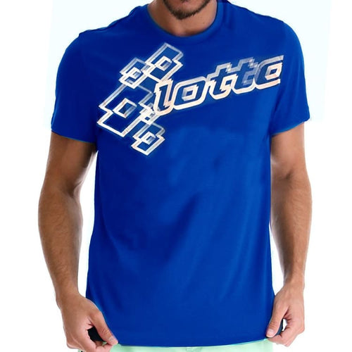 Tees / Short Sleeve: Lotto MENS RYXAN LOGO T-SHIRT-BLU PAC/WHITE - Lotto / S / Blue / Causal,Clothing,Land,Lotto,Lotto HK |