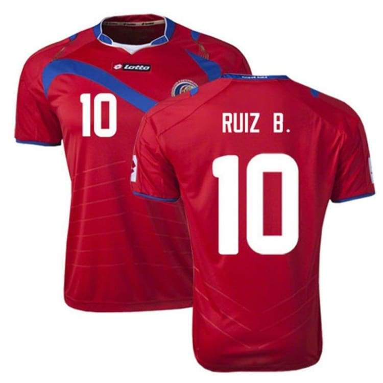 Jerseys / Soccer: Lotto National Team 2014 World Cup Costa Rica (H) S/s R3813 With #10 Ruiz B. - S / Red / Lotto / 2014 Clothing Costa Rica