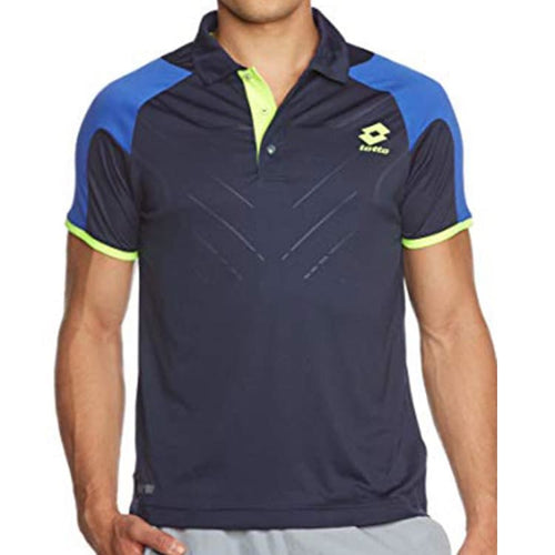 Polos / Short Sleeve: Lotto POLO MATRIX TECH - FLUO MINT/DP N - Lotto / S / Navy / Clothing,Land,Lotto,Lotto HK,lotto_20200402 |