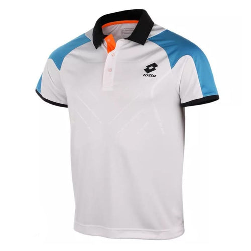 Polos / Short Sleeve: Lotto POLO MATRIX TECH - WHT/AQUARIUS - Lotto / S / White / Clothing,Land,Lotto,Lotto HK,lotto_20200402 |