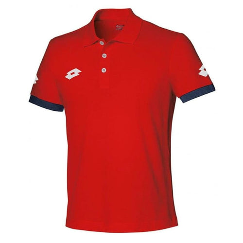 Polos / Short Sleeve: Lotto STARS EVO POLO-FLAME/NAVY - Lotto / M / Red / Clothing,Land,Lotto,Lotto HK,lotto_20200402 | OCHK-LOTTO-R9722-1