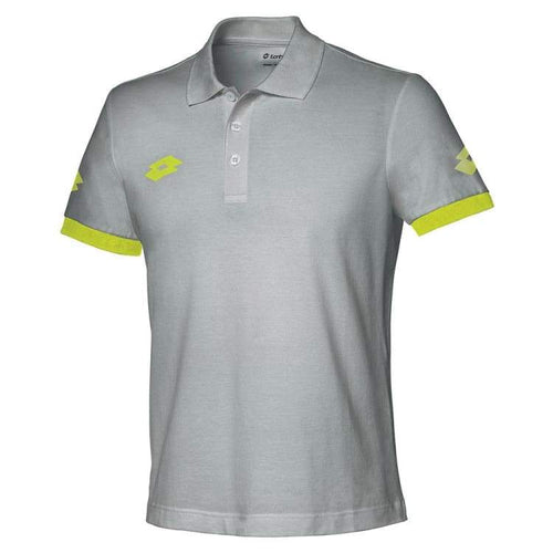 Polos / Short Sleeve: Lotto STARS EVO POLO-ML DK G/FL YLW - Lotto / M / Grey/ Yellow / Clothing,Land,Lotto,Lotto HK,lotto_20200402 |