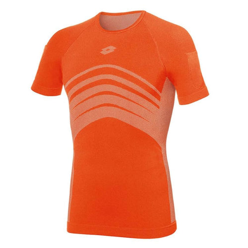 Base Layers / Top: Lotto UND SML T-SHIRT-FLUO FANTA - Lotto / M / Orange / Base Layers,Base Layers / Top,Clothing,Land,Lotto |