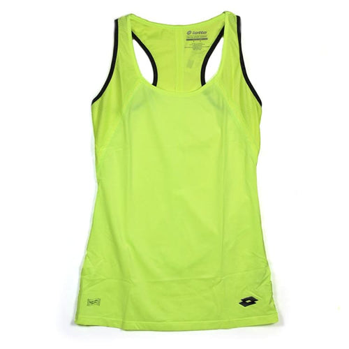 Tanks: Lotto WOMENS INDY TANK PL- YELLOW NEON - Lotto / XS / Neon Yellow / Clothing,Fitness & Exercise,Land,Lotto,Lotto HK |