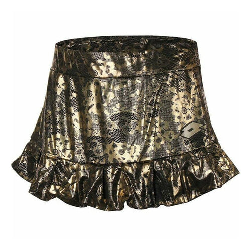 Skirts: Lotto WOMENS LUX SKIRT-MET LACE PRT - Lotto / XS / Metallic Lace Print / Clothing,Land,Lotto,Lotto HK,lotto_20200402 |