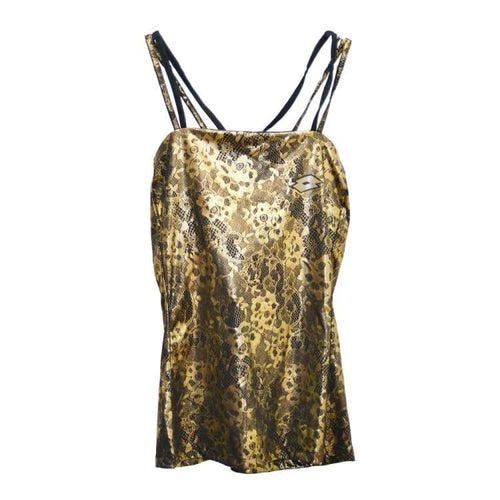 Tanks: Lotto LUX TANK W - MET LACE PRT - Lotto / XS / Metallic Lace Print / Clothing,Land,Lotto,Lotto HK,lotto_20200402 | OCHK-LOTTO-S1957-1