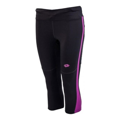 Pants / Legging: Lotto WOMENS MOONRIDE II MID LEGGING-GRY SHR/PURP IN - Lotto / XS / Purple / Clothing,Land,Lifestyle,Lotto,Lotto HK |