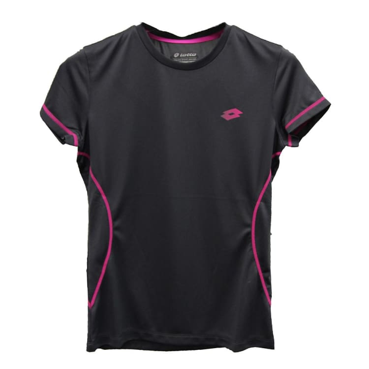 Tees / Short Sleeve: Lotto WOMENS RIDE BS T-SHIRT-GRY SHR/PNK MAG - Lotto / XS / Grey/ Pink / Clothing,Grey/ Pink,Land,Lotto,Lotto HK |