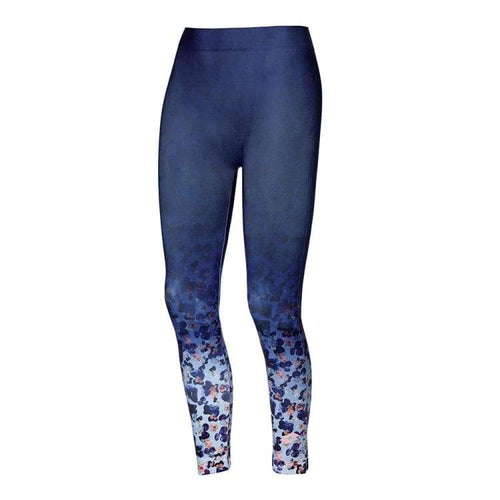 Pants / Legging: Lotto WOMENS TWICE LEGGINGS SML-BLUE MARINE PRT - Lotto / S / Blue / Clothing,Land,Lotto,Lotto HK,lotto_20200402 |