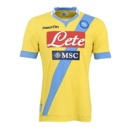 Jerseys / Soccer: Macron Napoli 13/14 (3Rd) Player S/s Ssita10131A - Macron / S / Yellow / 1314 Clothing Football Jerseys Jerseys / Soccer |
