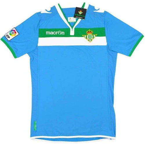 Jerseys / Soccer: Macron Real Betis 13/14 (A) S/s - Macron / M / Blue / Blue Clothing Football Jerseys Jerseys / Soccer |