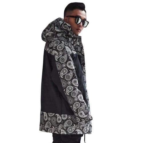 Jackets / Snow: Marqleen Galaxxy Jacket - Black Paisley (Japanese Brand) Ml8011-996 - Marqleen Ultimara / Xl / Black Paisley / 1819 Black