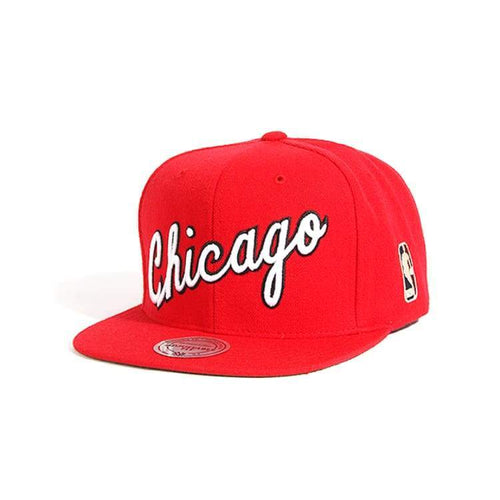 Headwear / Caps: Mitchell & Ness Snapback Cap - Nba Nl15Z Tpc Bulls Red - Mitchell & Ness / Accessories Basketball Caps Chicago Bulls Head &