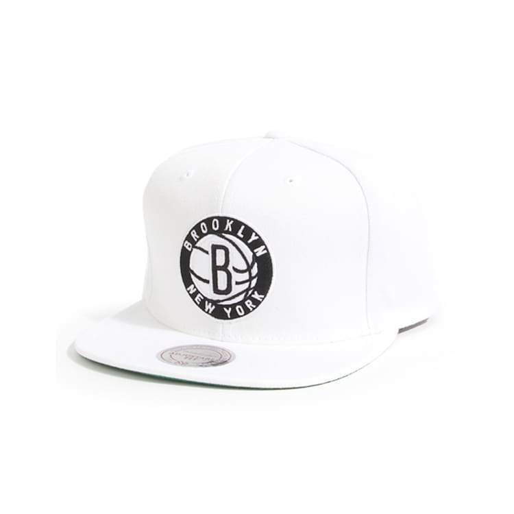 Headwear / Caps: Mitchell & Ness Snapback Cap - Nba Nl99Z Tsc Nets White - Mitchell & Ness / Accessories Basketball Brooklyn Nets Caps Head