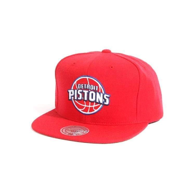 Headwear / Caps: Mitchell & Ness Snapback Cap - Nba Nl99Z Tsc Pistons Red - Mitchell & Ness / Accessories Basketball Caps Detroit Pistons