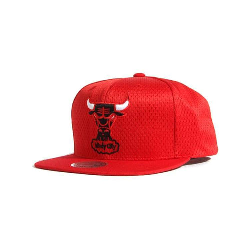 Headwear / Caps: Mitchell & Ness Snapback Cap - Nba Vq48Z Jersey Mesh Bulls Red - Mitchell & Ness / Accessories Basketball Caps Chicago