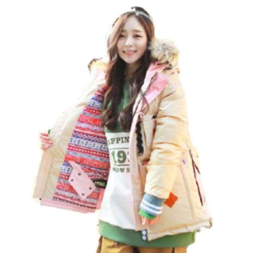 Jackets / Snow: Napping Brise Jacket Beige/b-Pink 1617 [ With Removable Sleeves ] - 1617 Beige/b-Pink Clothing Ice & Snow Jackets