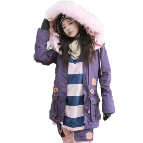 Jackets / Snow: Napping Challengr Jacket Fw1718 - Puple/pinkfur - M / Puple/pinkfur / Napping / 1718 Clothing Ice & Snow Jackets Jackets /