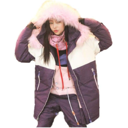 Jackets / Snow: Napping Jeoyeuse Jacket Puple/pinkfur 1718 - 1718 Clothing Ice & Snow Jackets Jackets / Snow