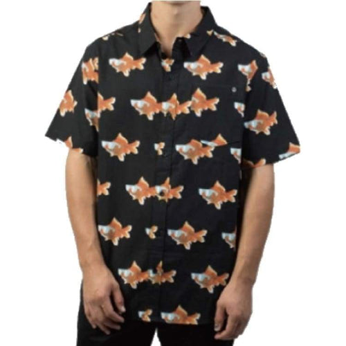 Shirts Ss / Casual: Neff Beach Party Button Up Fw1718 - Gold Fish - Neff / Gold Fish / L / 1718 Clothing Gold Fish Land Mens |