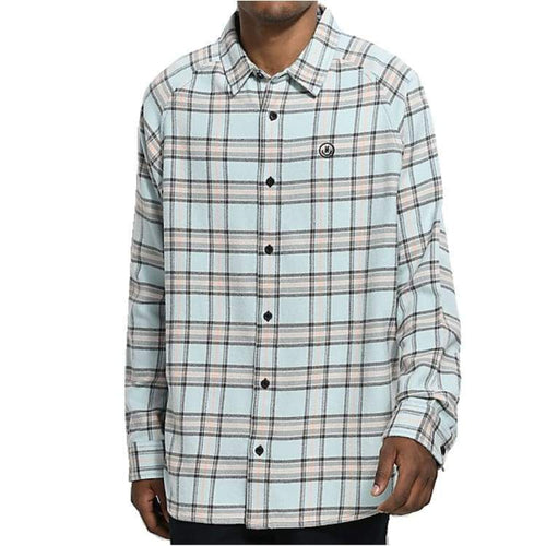 Shirts Ls / Casual: Neff Chopper Flannel Shirt Fw1718 - Turquoise - Neff / Turquoise / L / 1718 Clothing Land Mens Neff |