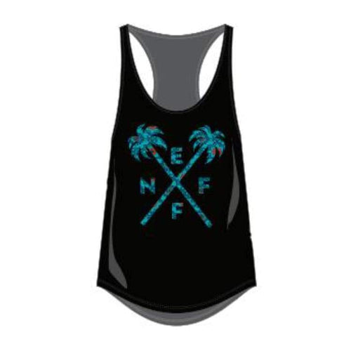 Tanks: Neff Crossed Palms Junior Tank - Black - Neff / Black / Xs / 2016 Black Clothing Land Neff | Occn-Whiteline-16P33003 Black-1