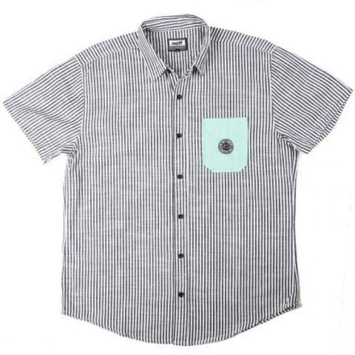 Shirts Ss / Casual: Neff Daily Button Up Sp15 - Stripe - Neff / M / Stripe / 2015 Clothing Land Mens Neff | Occn-Whiteline-15P50004Stripem