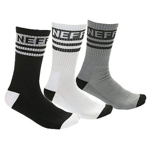 Socks / Casual: Neff Daily Sock 3 Pack - 1718 - Free / Assorted / Neff / 1718 Accessories Assorted Ice & Snow Mens | Occn-Whiteline-17F16003