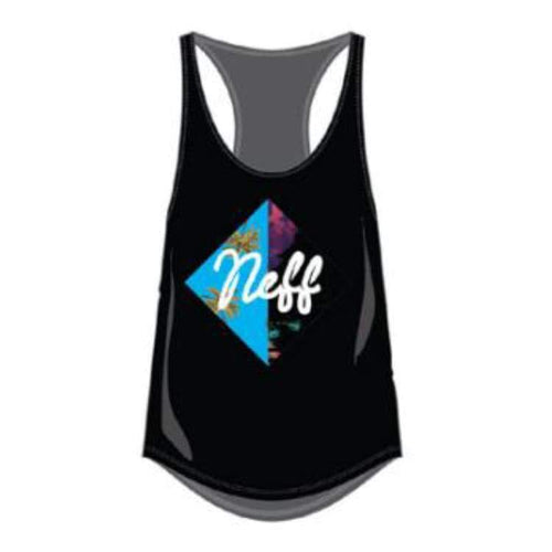 Tanks: Neff Diamond Summer Juniors Tank - Black - Neff / Black / Xs / 2016 Black Clothing Land Neff | Occn-Whiteline-16P33004 White-1