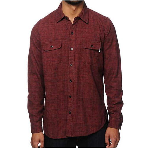 Shirts Ls / Casual: Neff Dusty Flannel Shirt - Maroon - Neff / M / Maroon / 2015 Clothing Land Maroon Mens | Occn-Whiteline-15H47002 Maroonm