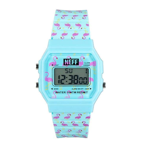 Watches / Casual: Neff Flava Xl Surf Watch Sp17 - Flamingo - Neff / Flamingo / 2017 Accessories Flamingo Land Mens |