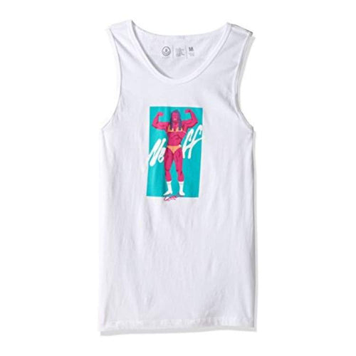 Tanks: Neff Girly Man Tank - White - Neff / White / L / 2017 Clothing Land Mens Neff | Occn-Whiteline-17P32001Whitl