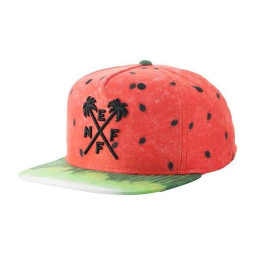 Headwear / Caps: Neff Hard Fruit Deconstructed - Watermelon - Neff / Free / Watermelon / 2015 Accessories Cap Head & Neck Wear Headwear /