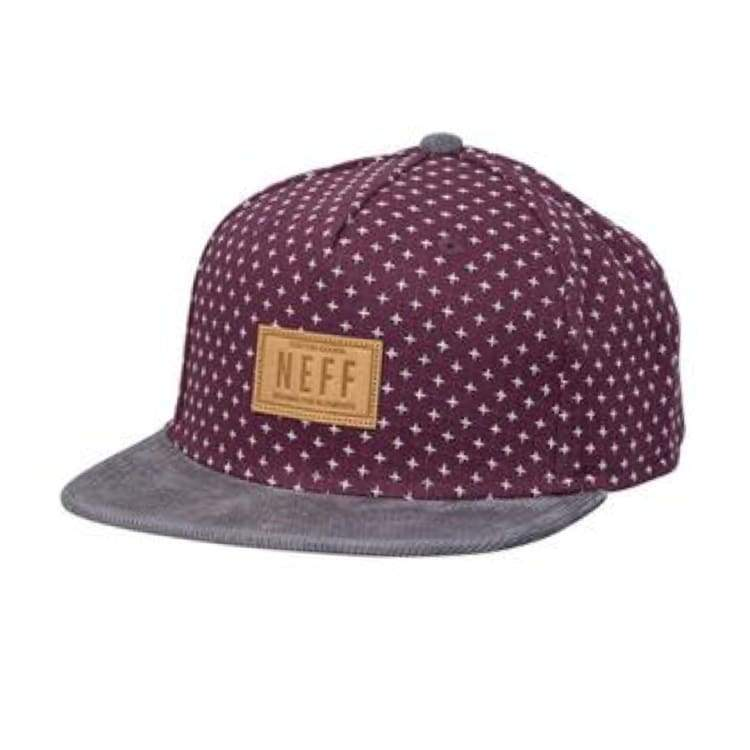 Headwear / Caps: Neff Kilted Cap - Maroon - Neff / Free / Maroon / 1617 Accessories Cap Head & Neck Wear Headwear / Caps |
