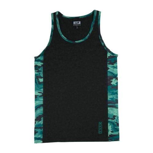 Tanks: Neff Kirk Tank - Charcoal Heather - Neff / Charcoal Heather / M / 2016 Charcoal Heather Clothing Land Mens |